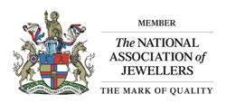 The official logo for The National Association of Jewellers.